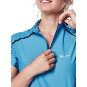 Berghaus Super Tech Tee SS Zip Baselayer Women Campanula/Galaxy Blue